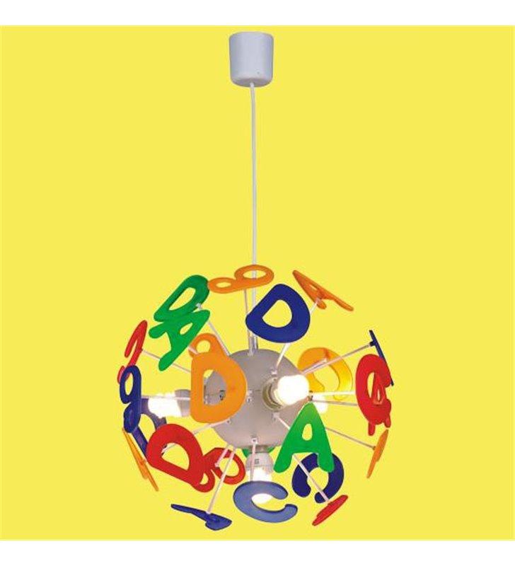 Lampa wisząca Literki do pokoju dziecka