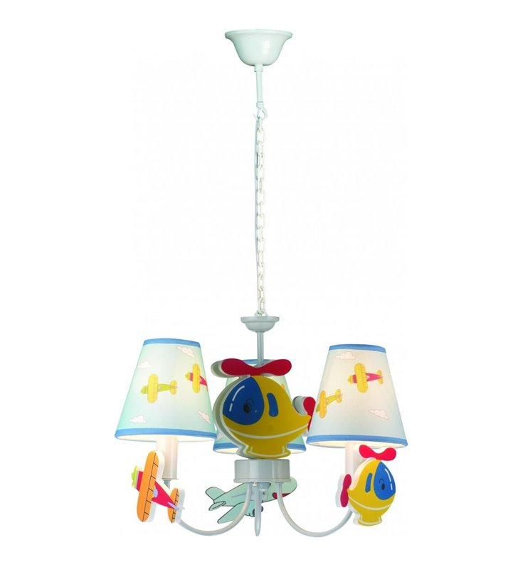 Lampa wisząca żyrandol z samolotami do pokoju chłopca Samolocik - OD RĘKI