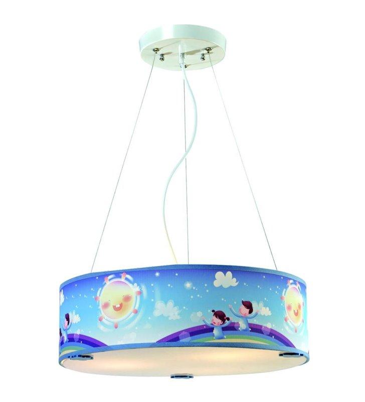 Niebieska lampa wisząca do pokoju dziecięcego Bajka - DOSTĘPNA OD RĘKI