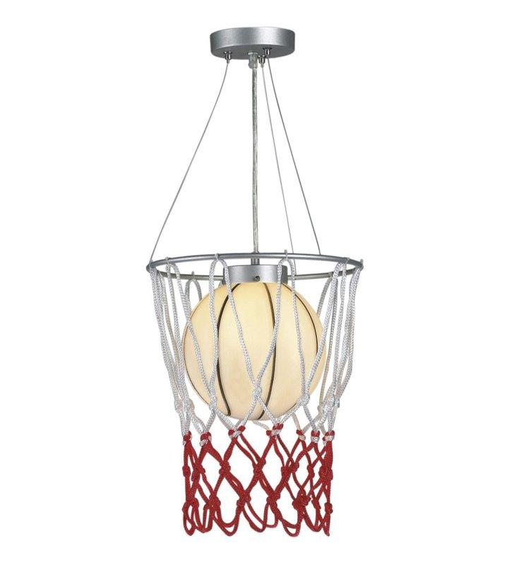 Lampa wisząca Sport piłka do koszykówki do pokoju dziecka młodzieżowego
