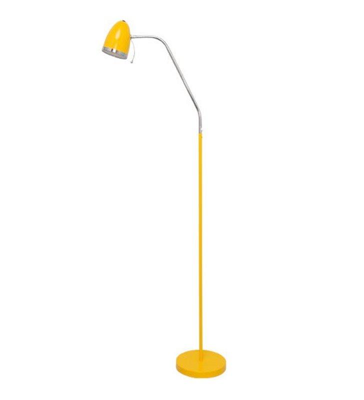 Lampa podłogowa Kajtek I żółta giętkie ramię