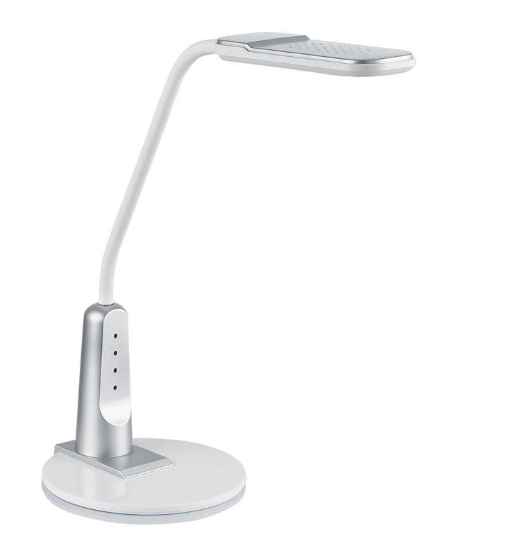Lampka biurkowa Timo LED srebrna z włącznikiem dotykowym