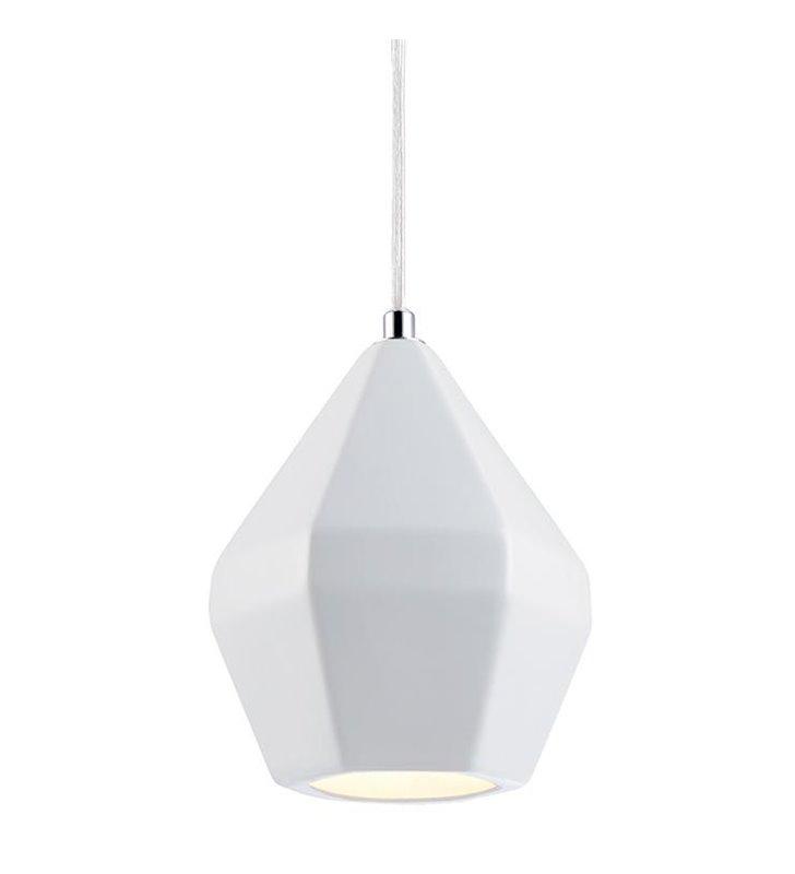 Nowoczesna biała lampa wisząca Ruby geometryczny kształt