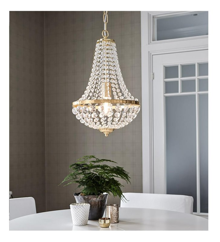 Granso złoty żyrandol kryształowy lampa wisząca kryształowa