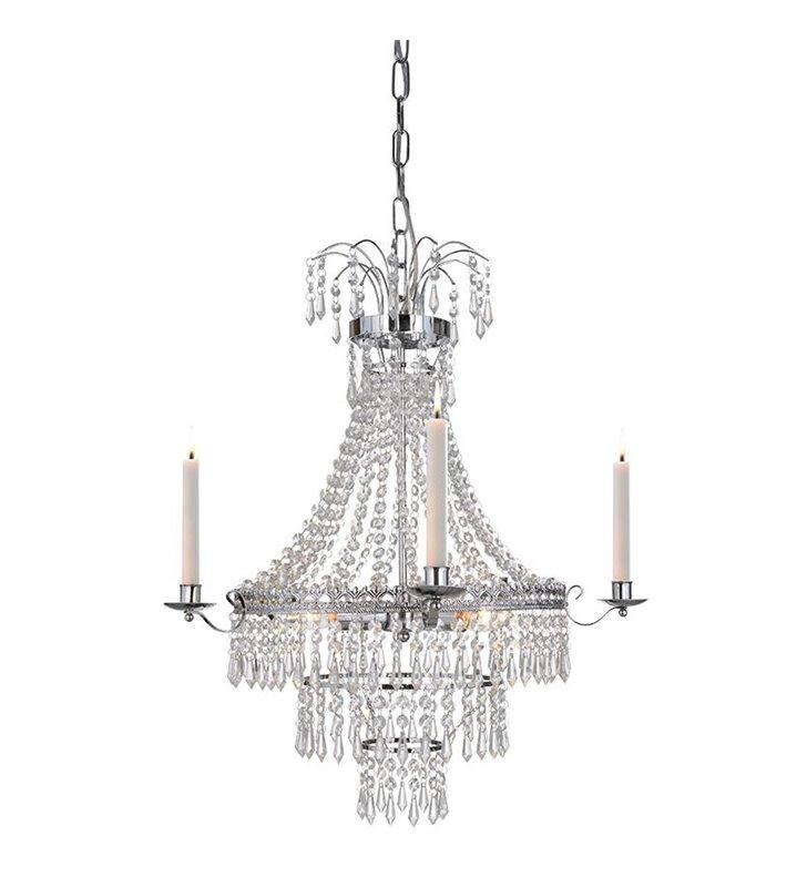 Żyrandol Marielund kryształowy ze świecami