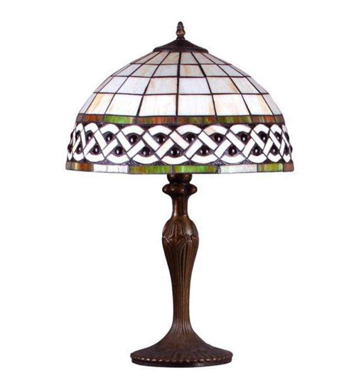 Lampa stołowa Tiffany witrażowa klasyczna elegancka