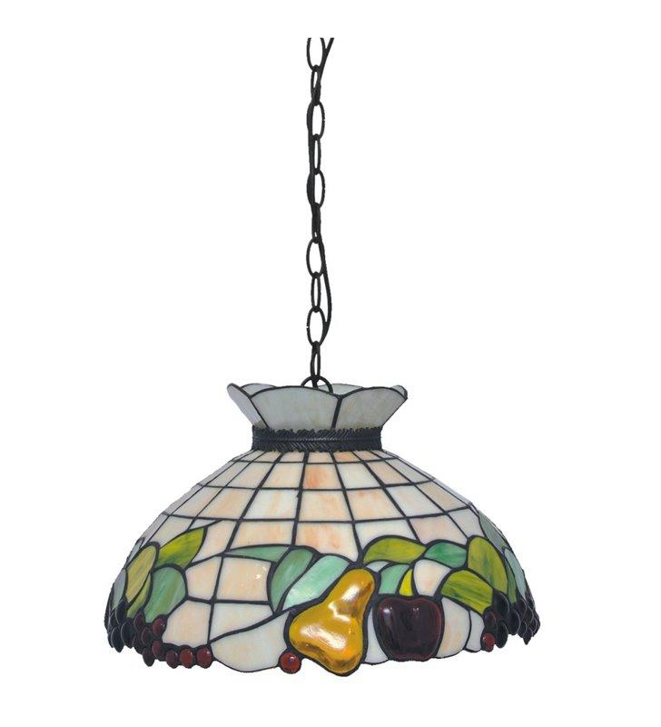 Kolorowa witrażowa lampa wisząca z owocami Fruit w stylu Tiffany do kuchni jadalni restauracji nad stół