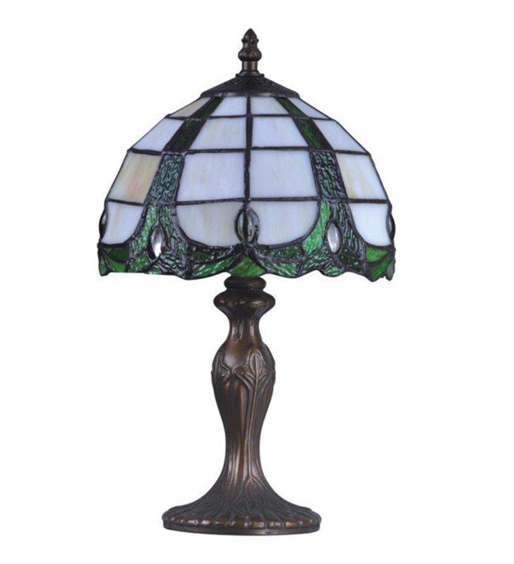 Lampa stołowa Papi witrażowa w stylu Tiffany klasyczna nieduża 36cm wysokości