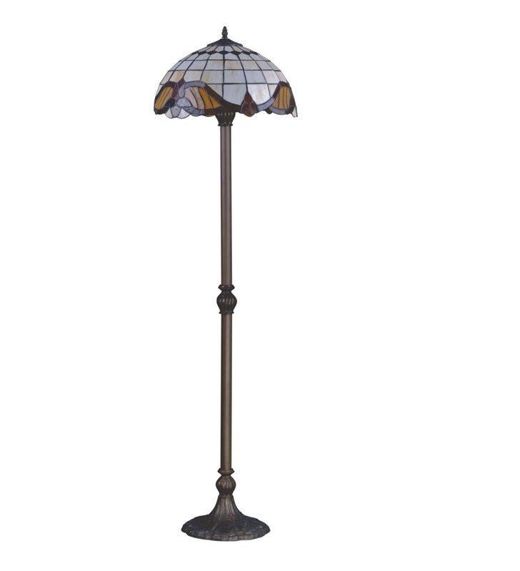 Lampa podłogowa Witraż w stylu Tiffany klasyczna 2 żarówki - DOSTĘPNA OD RĘKI