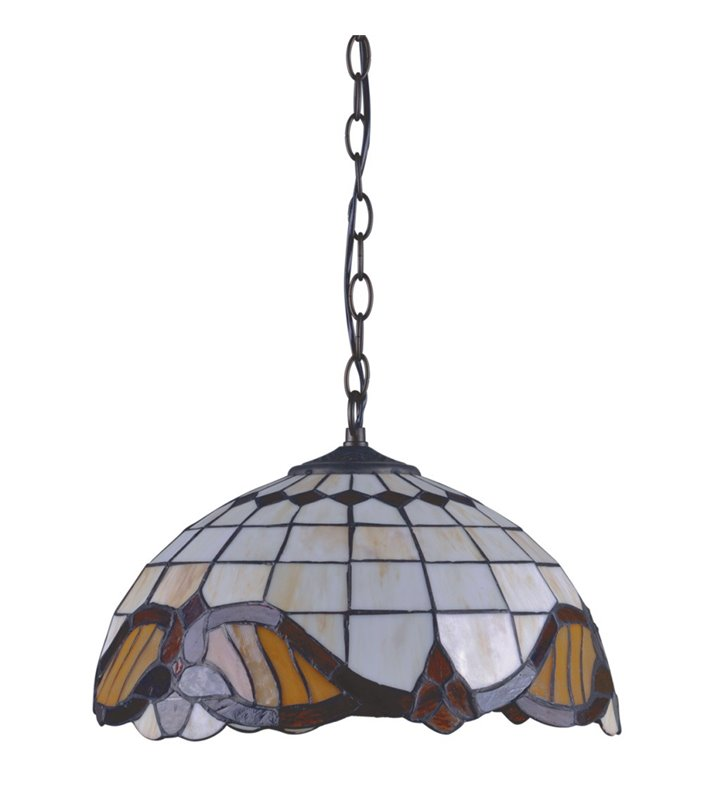 Lampa wisząca Witraż w stylu Tiffany witrażowa klasyczna np. do kuchni jadalni - DOSTĘPNA OD RĘKI