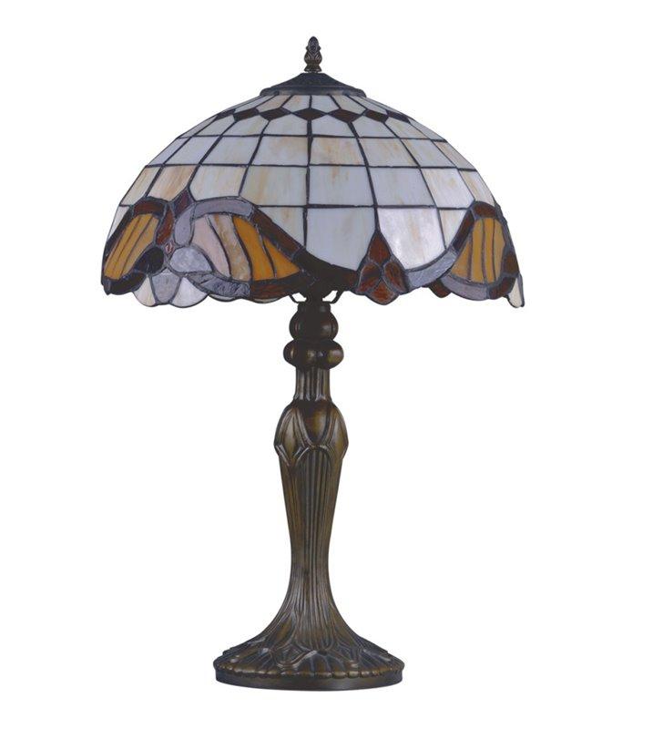 Lampa stołowa Witraż w stylu Tiffany klasyczna na komodę stolik nocny do salonu sypialni