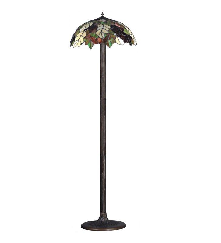 Lampa podłogowa Carson witrażowa klosz jak jesienne liście klasyczna do salonu sypialni pokoju dziennego