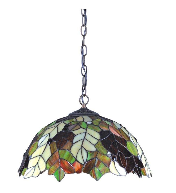 Lampa wisząca Carson witrażowa kolorowa klosz jak jesienne liście do kuchni jadalni nad stół do salonu sypialni