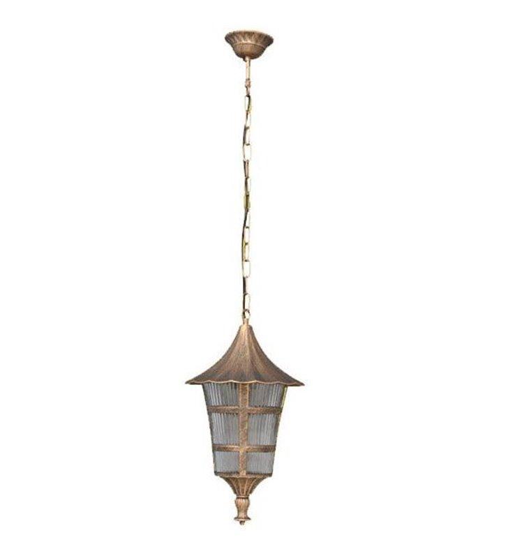 Złota ogrodowa lampa wisząca Retto