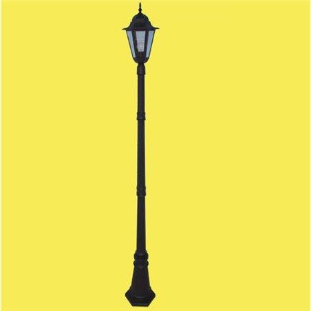 Słupek ogrodowy Standard czarny ponad 2m latarnia