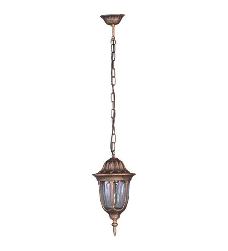 Lampa ogrodowa wisząca Vasco złota klasyczna