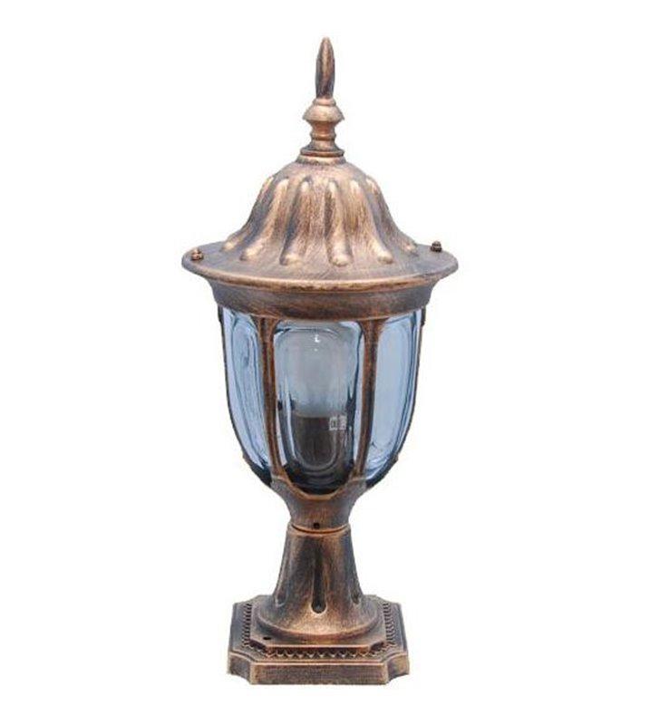 Słupek ogrodowy Vasco złoty niski w klasycznym stylu