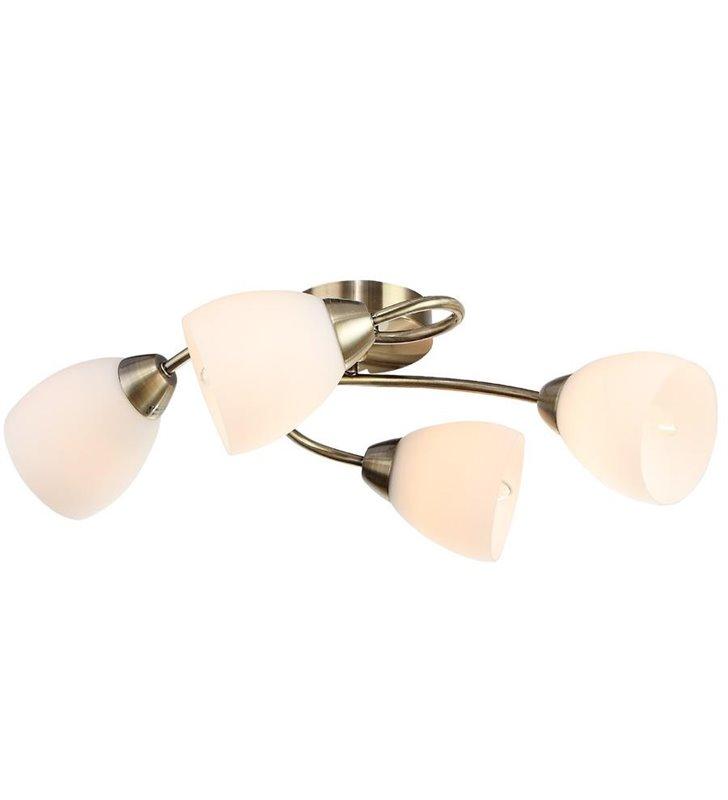 Lampa sufitowa Olga 4 płomienna kolor patyna - DOSTĘPNA OD RĘKI