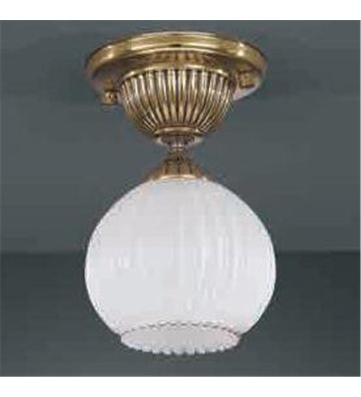 Lampa sufitowa Pescara klosz biała kula złota
