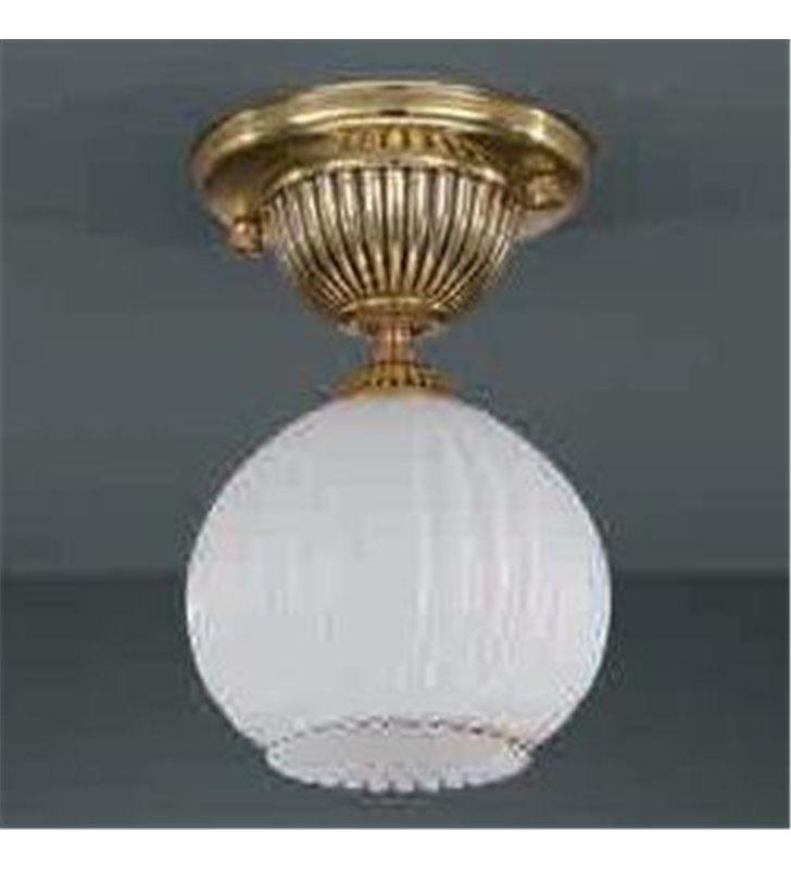 Lampa sufitowa Cesenatico złota klosz biała kula