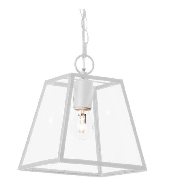Lampa wisząca Amata metalowa biała nowoczesna forma