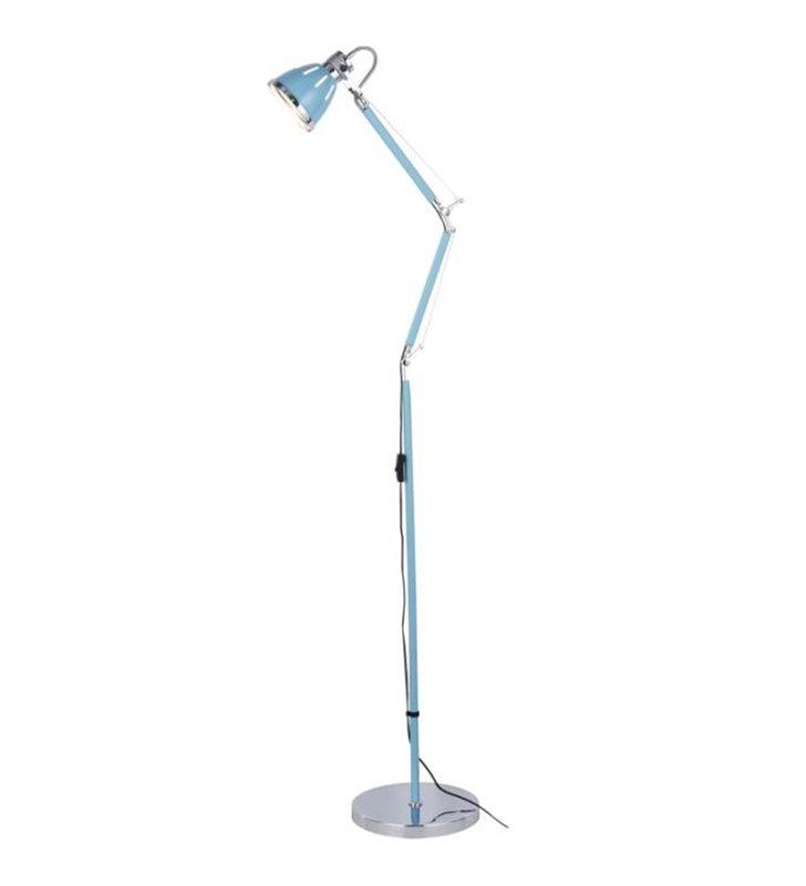 Lampa podłogowa Jerona błękitna łamana nowoczesna