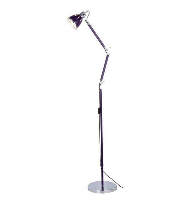 Lampa podłogowa Jerona fioletowa łamana nowoczesna