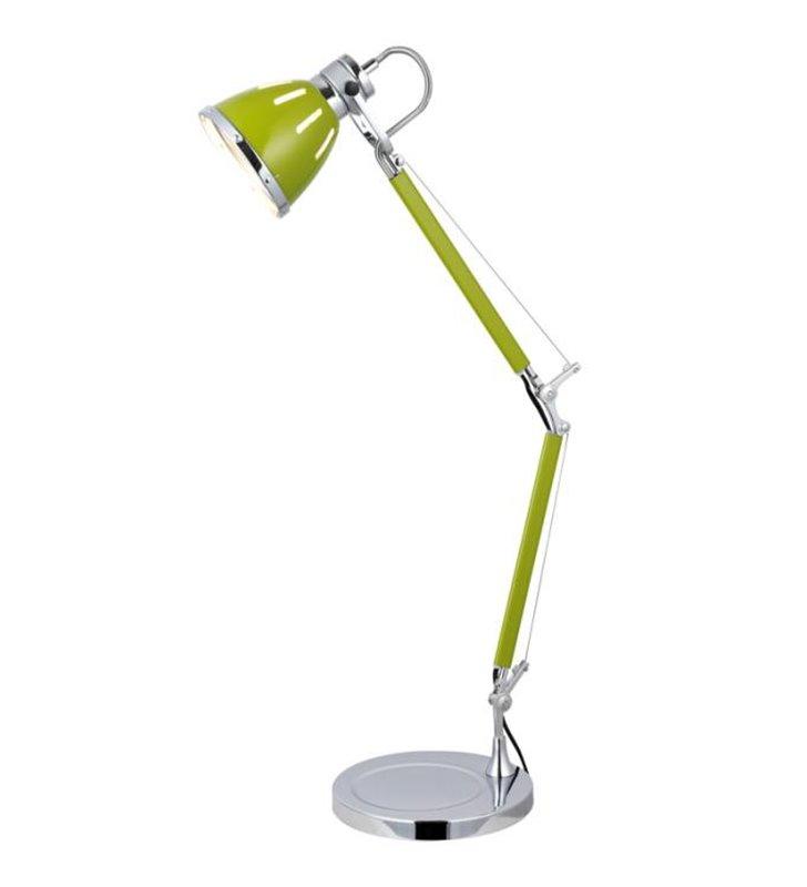 Lampa biurkowa Jerona łamana metalowa oliwkowa