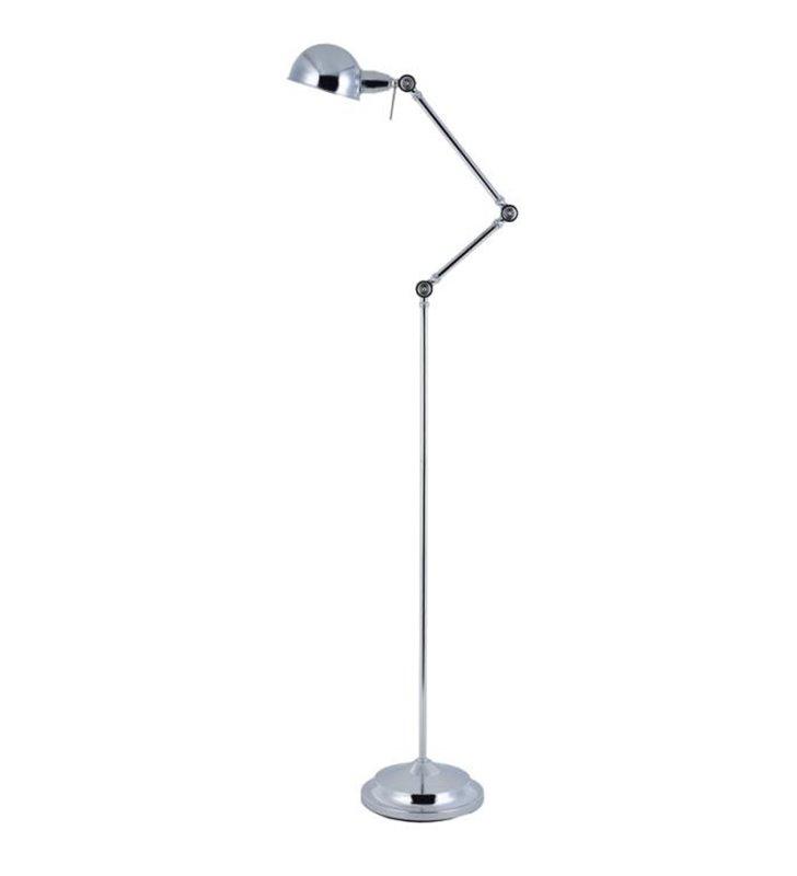 Lampa podłogowa Kadina łamana metalowa chrom - DOSTĘPNA OD RĘKI