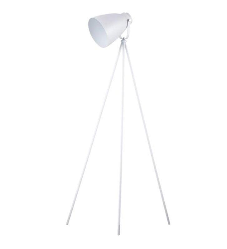Lampa podłogowa Marla biała trójnóg - DOSTĘPNA OD RĘKI