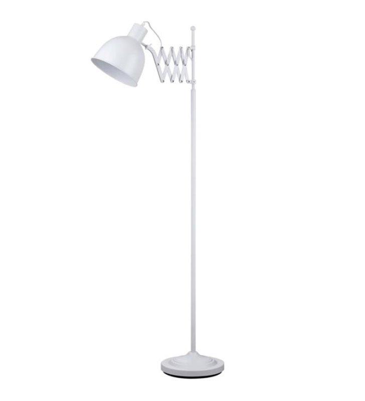 Lampa podłogowa Talaro biała z harmonijkowym ramieniem