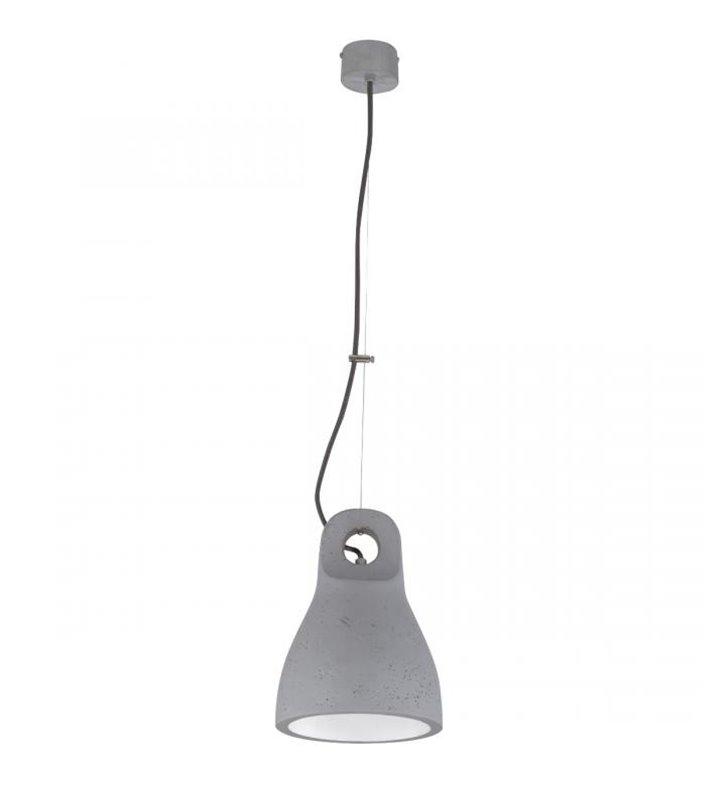 Lampa wisząca Masako szara gipsowa