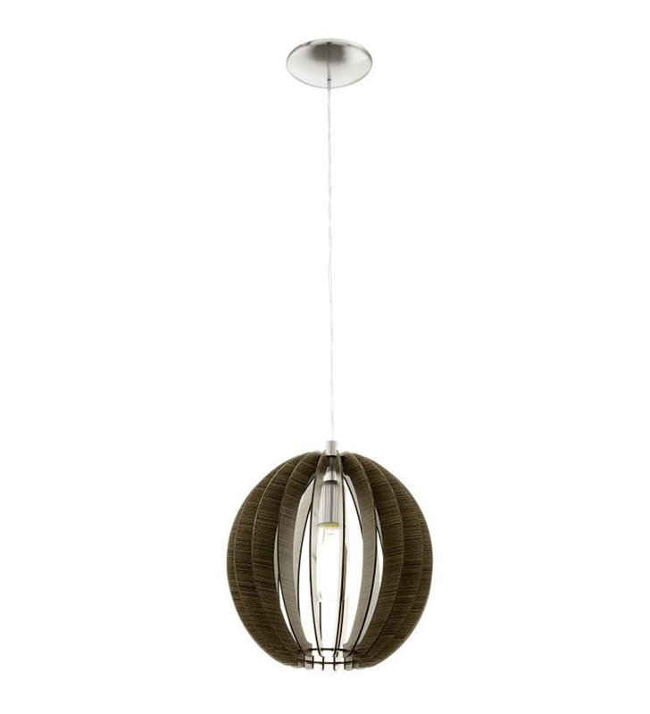 Lampa wisząca Cossano 300 ciemny brąz kula