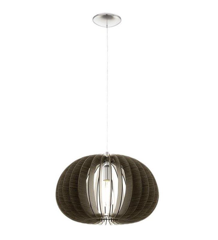 Lampa wisząca Cossano 450 ciemny brąz okrągła