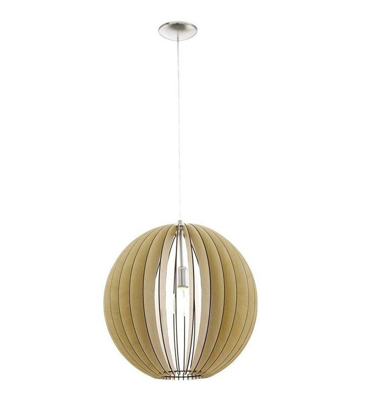 Cossano lampa wisząca kula 500 kolor klon drewniana