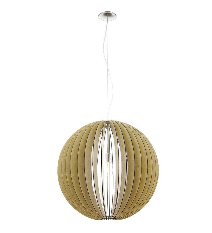 Cossano lampa wisząca duża kula 700 kolor klon drewniana