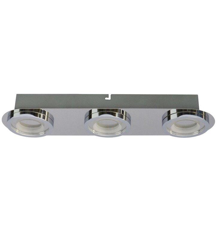 Lampa sufitowa Aurore potrójna LED chrom