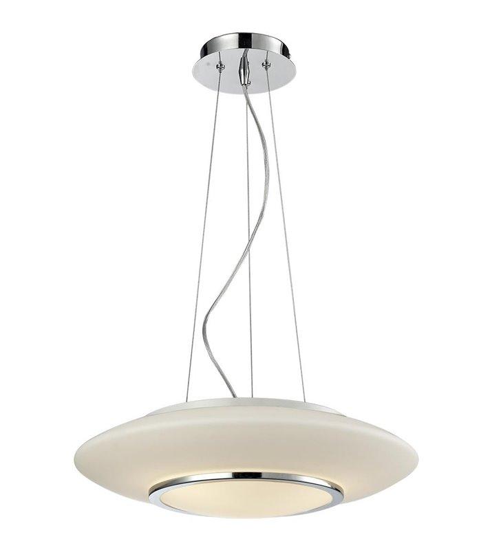 Lampa wisząca Camino nowoczesna okrągła z białego szkła
