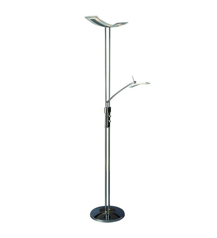 Nowoczesna dwupunktowa lampa podłogowa Celia LED kolor chrom