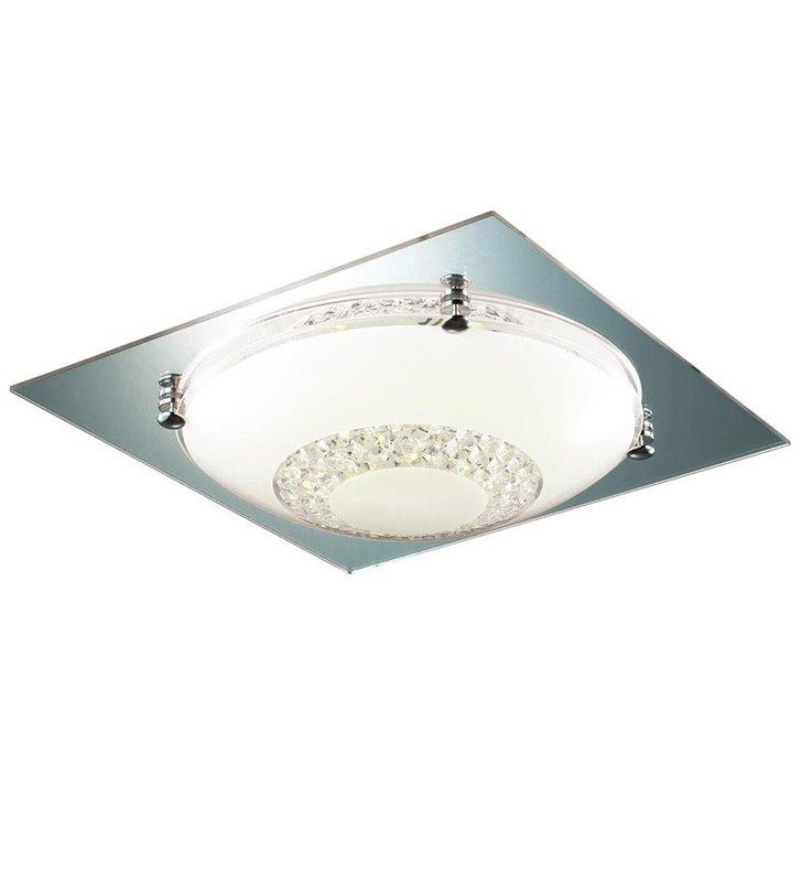 Pafon Ermes 315 kwadratowy z okrągłym kloszem zdobiony kryształkami