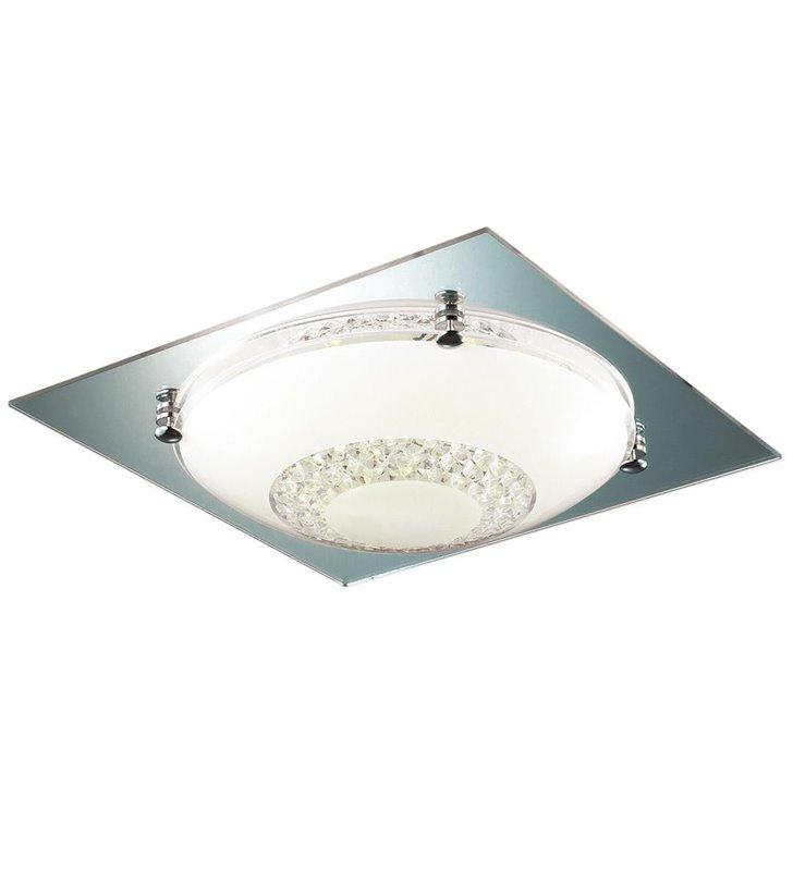 Pafon Ermes 415 kwadratowy z okrągłym kloszem zdobiony kryształkami