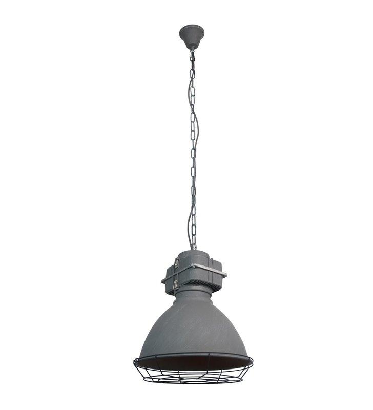 Lampa wisząca Boston metalowa w stylu industrialnym loftowym do nowoczesnego wnętrza kolor beton