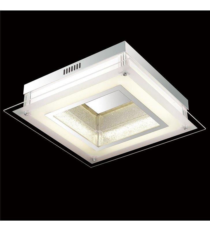 Pafon Gaia LED kwadratowy szklany 470 do salonu holu przedpokoju