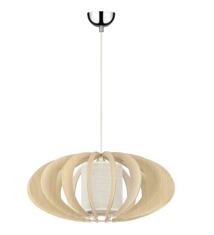 Lampa wisząca Keiko drewniana brzozowa do kuchni jadalni salonu