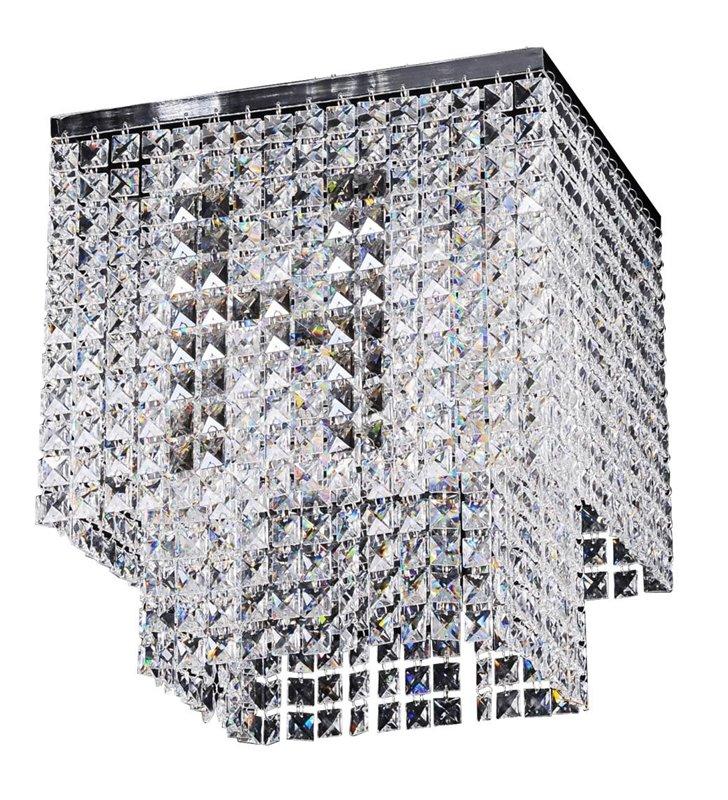Kwadratowy plafon kryształowy Euphoria