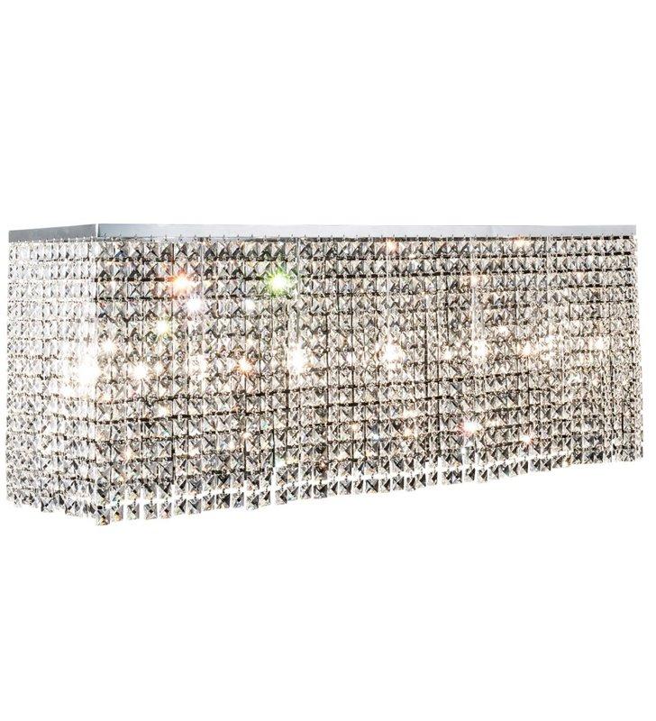 Prostokątna kryształowa lampa sufitowa plafon Euphoria