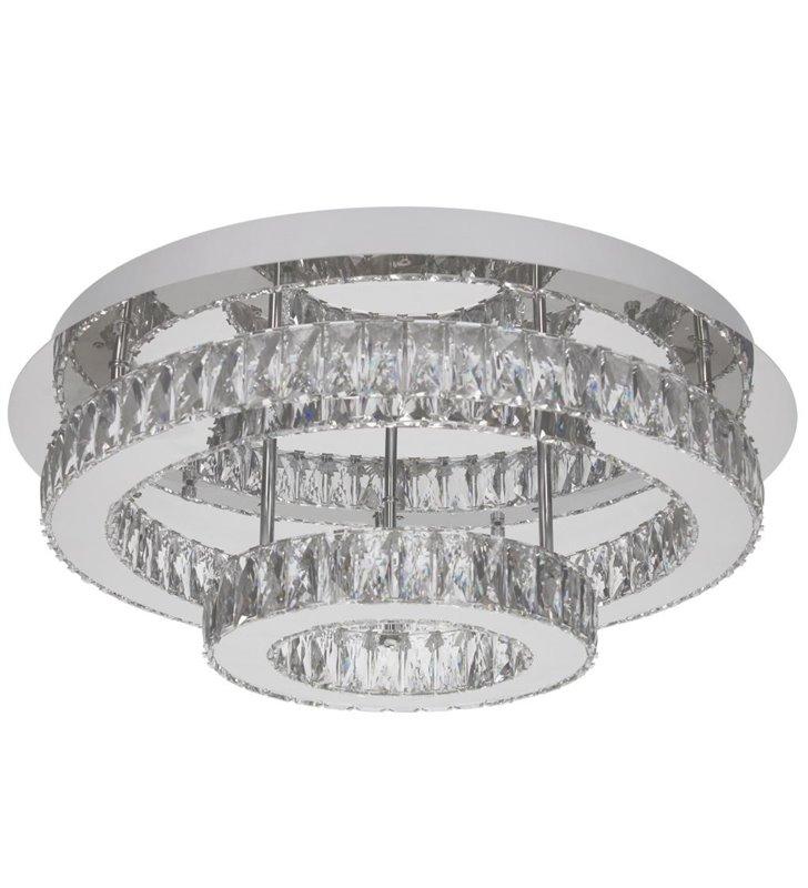 Irpina okrągły plafon kryształowy dwie obręcze