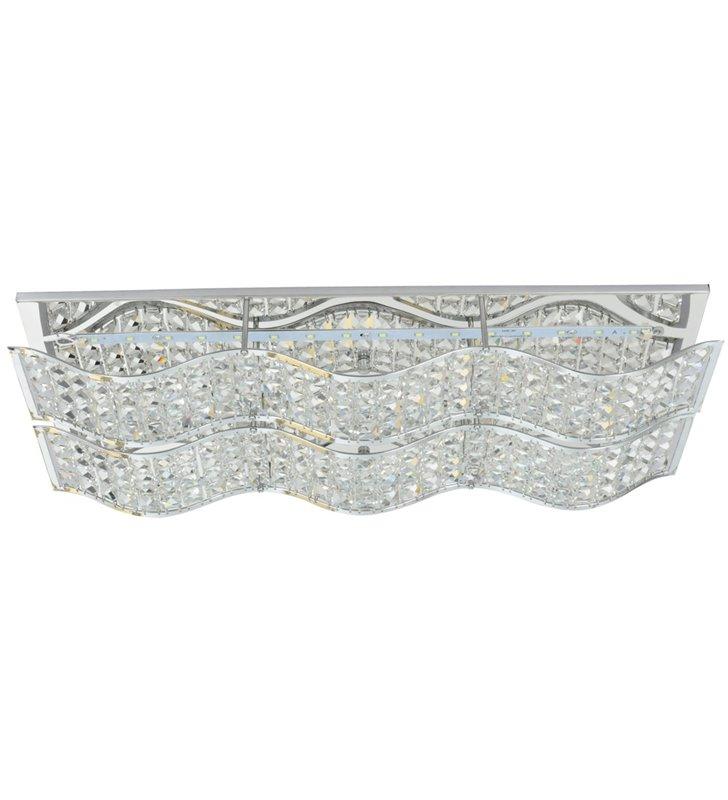 Prostokątny plafon kryształowy Spindle