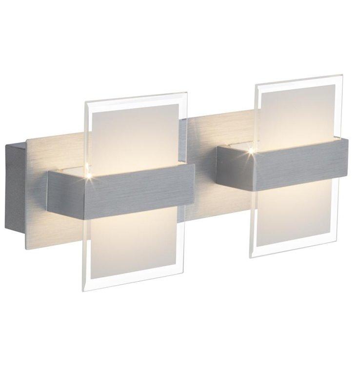 Kinkiet Hana podwójny nowoczesny kolor aluminium LED - DOSTĘPNY OD RĘKI