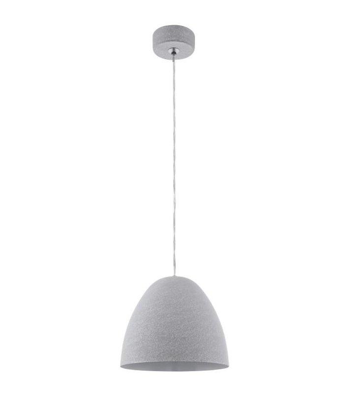 Sarabia pojedyncza szara metalowa lampa wisząca klosz kopuła